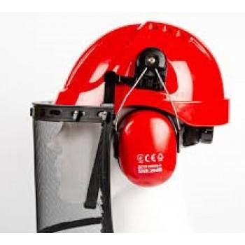 Защитный набор (каска) для лесника SIZAM, FOREST 2120, красный