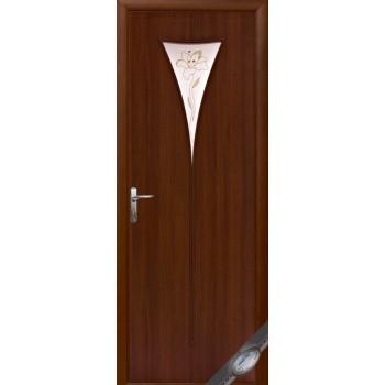 """Дверь Новый Стиль """"Бора"""" экошпон (стекло с рисунком Р3)"""