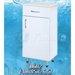 13295 Шкафчик напольный белый с одной дверцей 38*85см