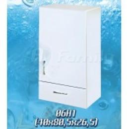 13296 Шкафчик настенный белый с одной дверцей 38*81см
