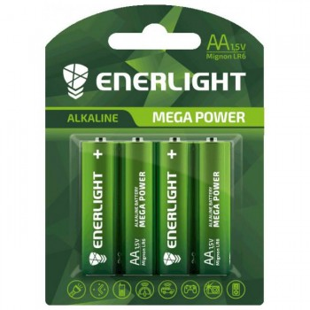 Батар. Enerlight Mega Power LR6-SH4*10  АА FOL4