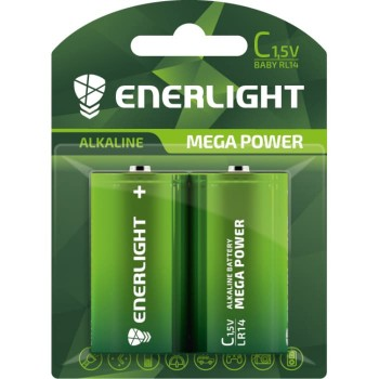 Батар. Enerlight Mega Power С BLI 2 (LR14)