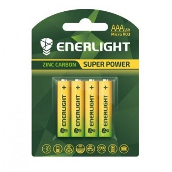 Батар. соль Enerlight Super Power AAA  BLI4/блистер  4шт (R03)