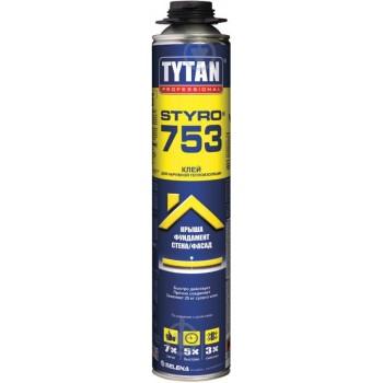 Клей пена  TYTAN Styro 753 GUN клей для теплоизоляции (проф.), 750 мл