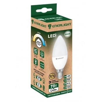 Лампа свеча светодиодная Enerlight C37 7Вт 4100К Е14