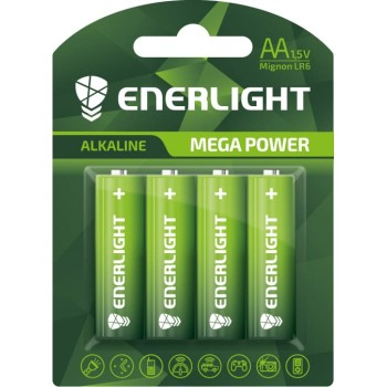 Батар. щелочь Enerlight Mega Power AA BLI 4/блистер 4шт (LR6)
