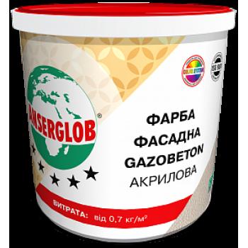 Краска фасадная GAZOBETON акриловая ANSERGLOB