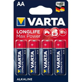 Батар. Varta Max T./Longlife Max Power AA BLI 4 Alkaline (4706), блистер