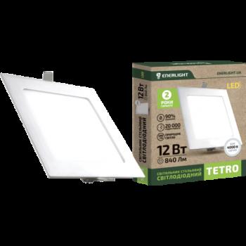 Светильник потолочный светодиодный Enerlight Tetro 12Вт 4000K
