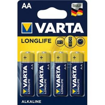 Батар. Varta Longlife AA  BLI  4  Alkaline / блистер (4106), блистер