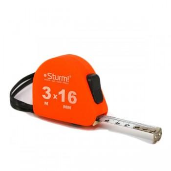 3100201 Рулетка 3м*16мм  Soft Touch  STURM