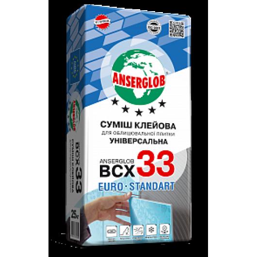 Смесь клеевая для облицовочной плитки ANSERGLOB BCX 33