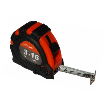 3100101 Рулетка 3м*16мм шкала с двух сторон, магнит STURM