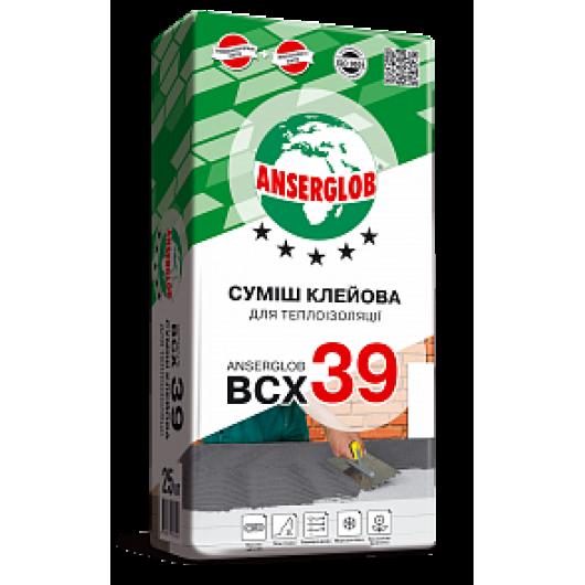 Смесь клеевая для теплоизоляции ANSERGLOB BCX 39, 25 кг