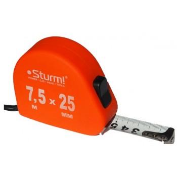 3100203 Рулетка 7.5м*25мм  Soft Touch  STURM