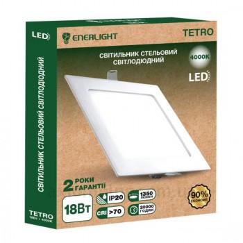Светильник потолочный светодиод. Enerlight Tetro 18Вт 4000K