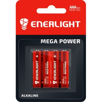 Батар. Enerlight Mega Power LR03-SH4  ААА FOL4