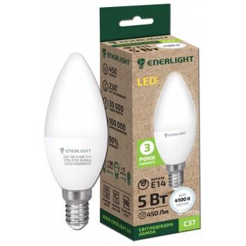 Лампа свеча светодиодная Enerlight C37 5Вт 3000К Е14