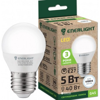 Лампа шар светодиодная Enerlight G45 5Вт 3000К Е27