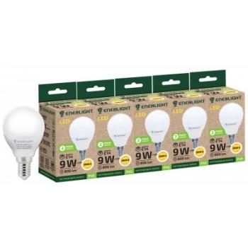 Лампа шар светодиодная Enerlight Р45 9Вт 3000К Е14