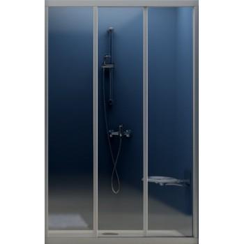 Штора на ванну Kaifeng TR-101 (хром,стекло) 1700х1500