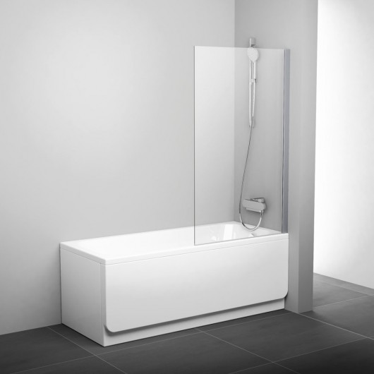 Шторка на ванну Ravak PVS1-80 (Transparent) сатин ,стекло