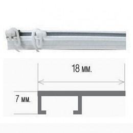 Алюминиевый потолочный карниз однорядный
